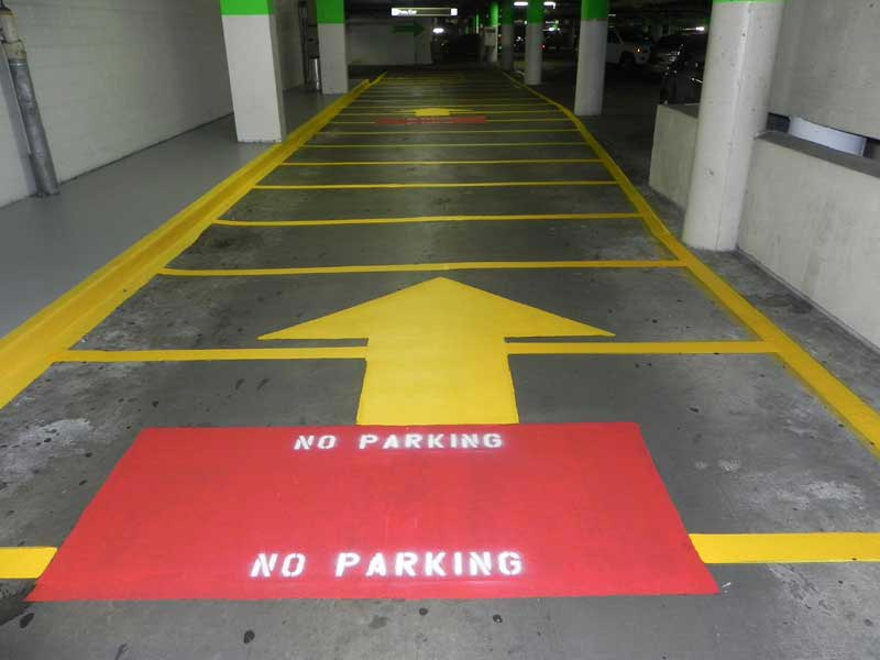 Houston Parking Lot Striping by Frontline Striping
